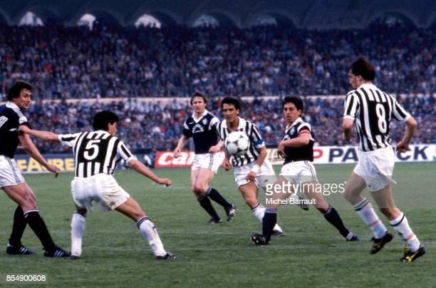 Alain GIRESSE Bordeaux / Juventus Turin 1/2 finale retour Coupe d'Europe des Clubs Champions Bordeaux