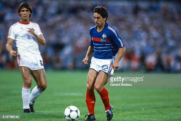 Alain Giresse of France during the Semi Final Football European Championship between France and Portugal Marseille France on 23 June 1984