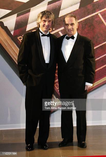 Alain Goldman and Alain Terzian during International Forum of Cinema Litterature Award Ceremony Arrivals at Grimaldi Forum in MonteCarlo Monaco