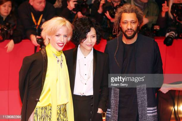 Alain Gomis Vivian Qu and Katja Eichinger attend the The Kindness Of Strangers premiere during the 69th Berlinale International Film Festival Berlin...
