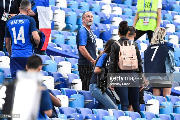 Alain Griezmann father of Antoine Griezmann during 2018 FIFA World Cup Quarter Final match between France and Uruguay at Nizhniy Novgorod Stadium on...