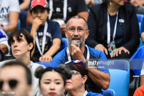 Alain Griezmann father of Antoine Griezmann of France during 2018 FIFA World Cup Quarter Final match between France and Uruguay at Nizhniy Novgorod...