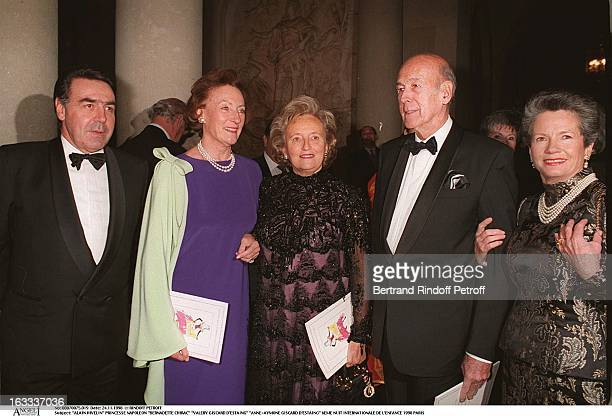Alain Hivelin Princess Napoleon Bernadette Chirac Valery Giscard D'Estaing AnneAymone Giscard D'Estaing at The Sixth Night Of Internationale De L'...