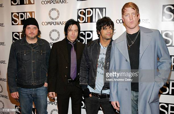 Alain Johannes Troy Van Leeuwen Joey Castillo and Josh Homme of Queens of the Stone Age