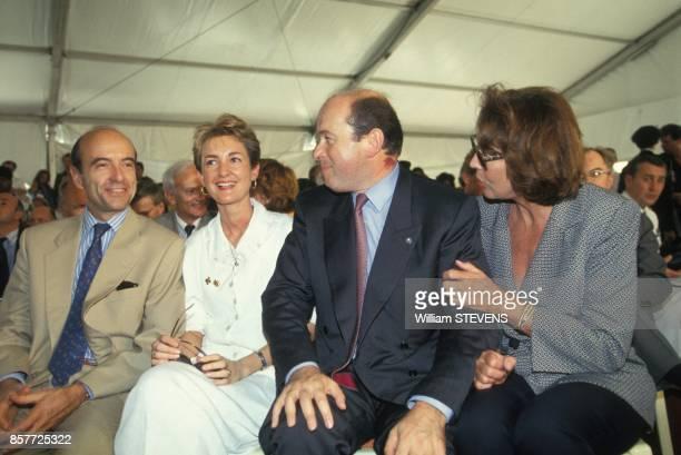 Alain Juppe et sa femme Isabelle en compagnie de Jacques Toubon et sa femme Lise lors du sommet des pays francophones le 20 octobre 1993 a l4ile...
