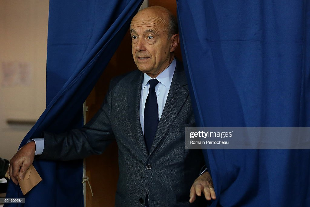 Alain Juppe Votes For 1st Right-Wing Primary Ahead Of The 2017 Presidential Election At In Paris