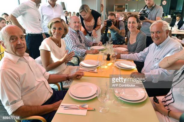 Alain Juppe Mayor of Bordeaux president of the IledeFrance regional council Valerie Pecresse Bordeaux's deputy mayor Virginie Calmels French...