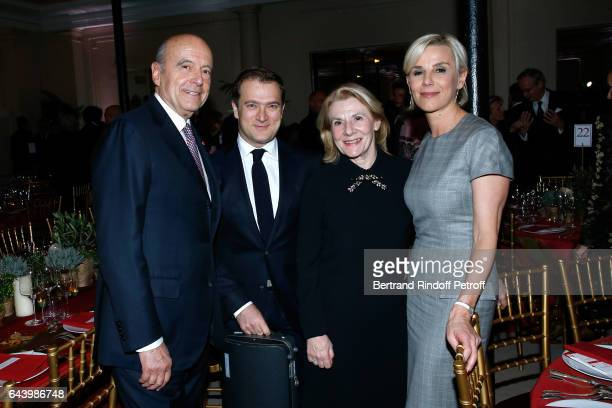 Alain Juppe violonist Renaud Capucon President of Versailles Castle Catherine Pegard and Laurence Ferrari attend the celebration of the 10th...