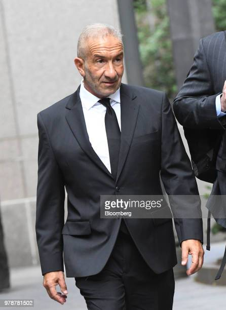 Alain Kaloyeros former president of the State University of New York's Polytechnic Institute arrives at federal court in New York US on Tuesday June...