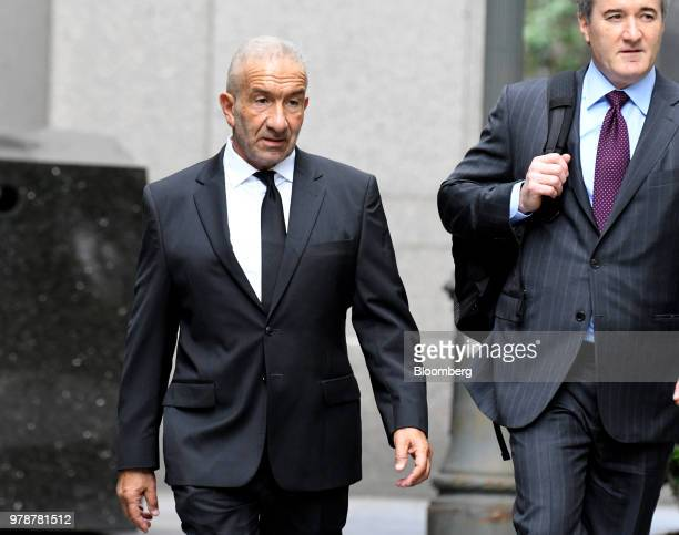 Alain Kaloyeros former president of the State University of New York's Polytechnic Institute left arrives at federal court in New York US on Tuesday...