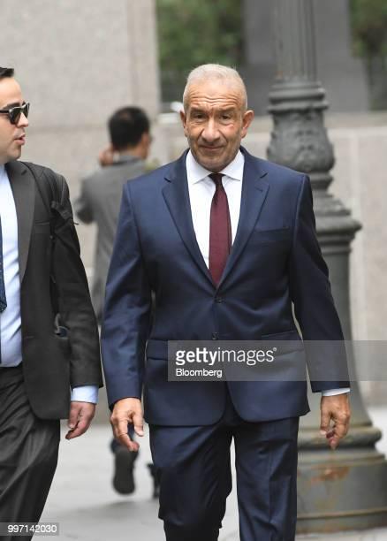 Alain Kaloyeros former president of the State University of New York's Polytechnic Institute arrives at federal court in New York US on Thursday July...