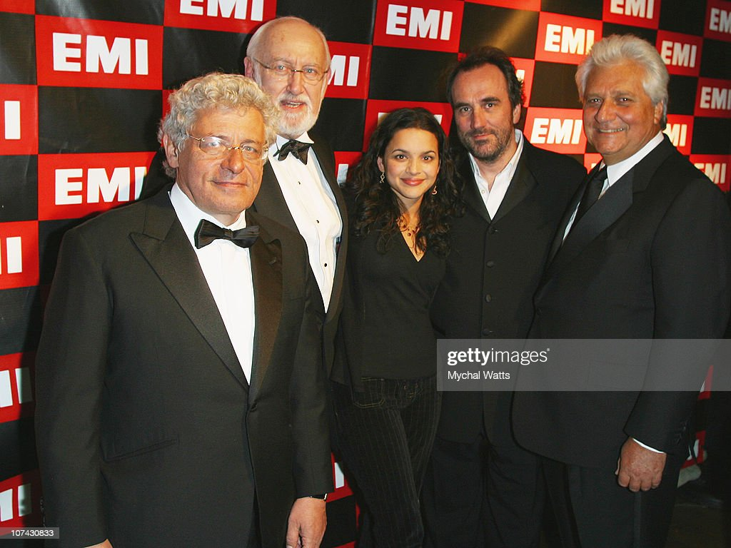 Alain Levy, Chairman and CEO of EMI Recorded Music, Bruce Lundvall, CEO of Blue Note, Norah Jones, David Munns, Vice Chairman EMI Recorded Music and Martin Bandier, Chairman and CEO of EMI Music Publishing