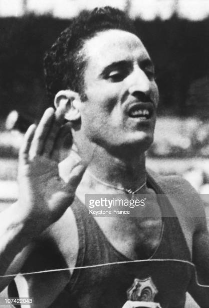 Alain Mimoun Winner Of The Marathon Race At The Melbourne Olympic Games On December 1956