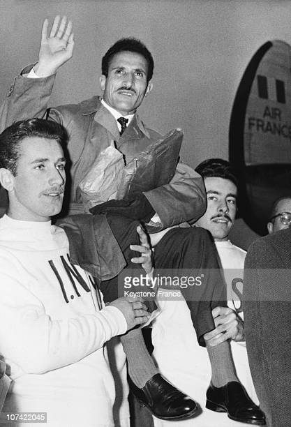 Alain Mimoun Winner Of The Melbourne Olympic Games Marathon Race In Orly On December 9Th 1956