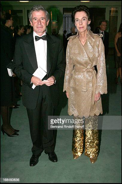 Alain Minc and his wife at 24th Biennale Des Antiquaires At Grand Palais In Paris