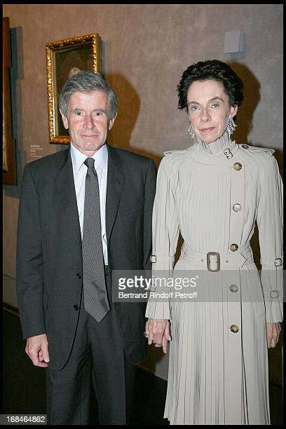 Alain Minc and his wife at Private Viewing Of The Exhibition Picasso Et Les Maitres At Grand Palais In paris