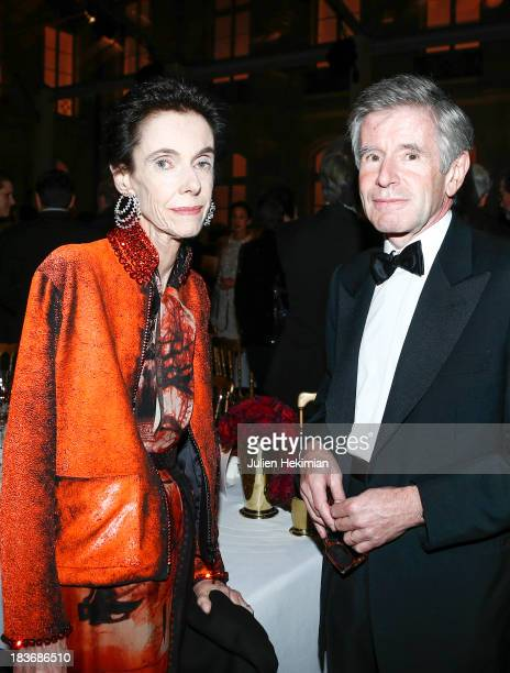 Alain Minc and his wife attend a private dinner following the presentation of the Ralph Lauren Fall 13 Collection Show at Les BeauxArts de Paris on...
