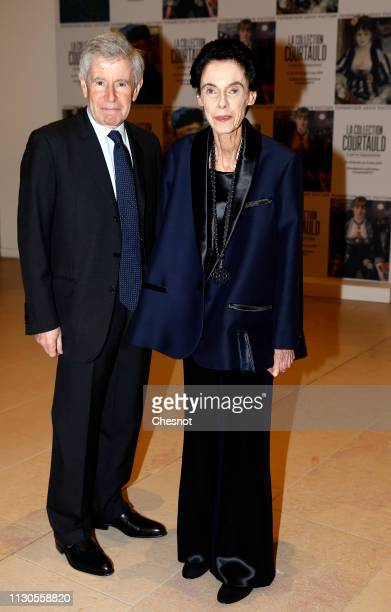 Alain Minc and his wife attend the opening of 'The Courtauld Collection A Vision For Impressionism' exhibition at Fondation Louis Vuitton on February...
