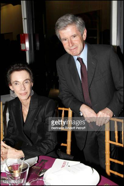 Alain Minc and wife at The Gala Dinner For The Society Of Friends Of The National Museum Of Modern Art Held At The Pompidou Centre In Paris