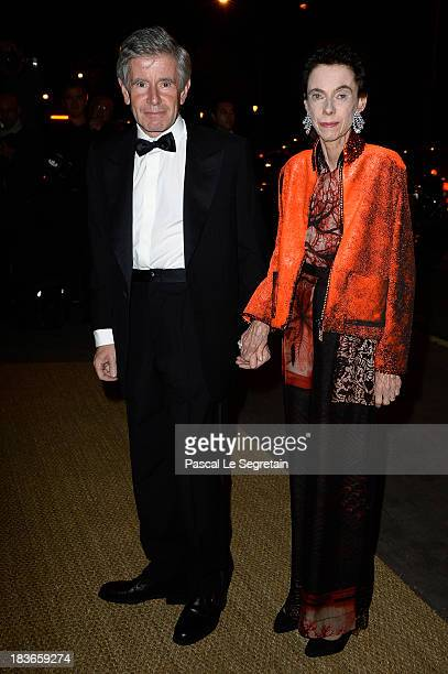 Alain Minc arrives at a Ralph Lauren Collection Show and private dinner at Les BeauxArts de Paris on October 8 2013 in Paris France On this occasion...