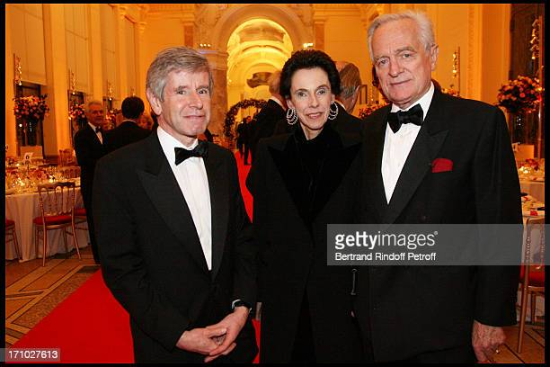 Alain Minc with wife and Philippe Labro at The Dinner Hosted At The Petit Palais To CoInside With The Retrospective Yves Saint Laurent