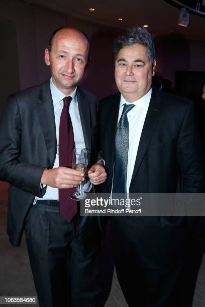 Alain Missoffe and PierreFrancois Veil attend the Ma mere est folle Private Projection at Elysee Biarritz on November 19 2018 in Paris France