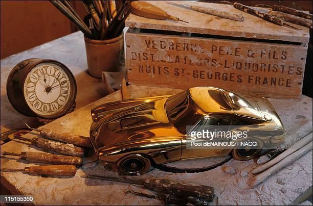 Alain Moitrier a sculptor of speed in France in January 1991 Berlinette Ferrari 250 GT Tour de France