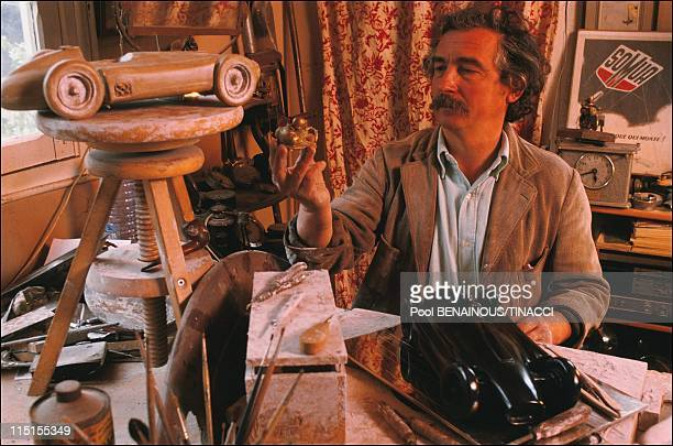 Alain Moitrier a sculptor of speed in France in January 1991 Moitrier working on a 'Lancia Ferrari D50'