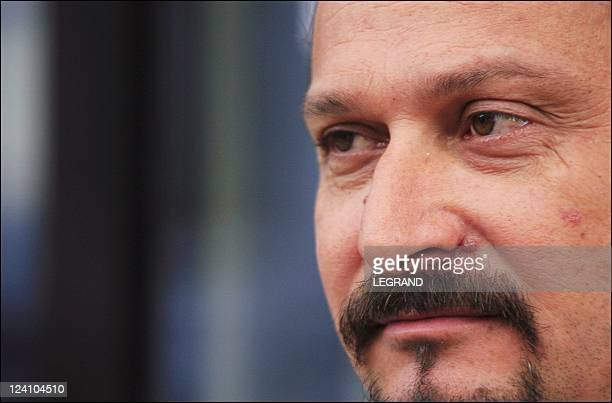 Alain Mosconi at the port of Bastia France On October 02 2005 Alain Mosconi this morning Sunday 2 October 2005 at the port of Bastia before the...
