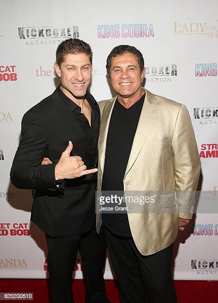 Alain Moussi and Dimitri Logothetis attend AFM'16 The Exchange's 5 Year Anniversary Celebration on November 1 2016 in Santa Monica California