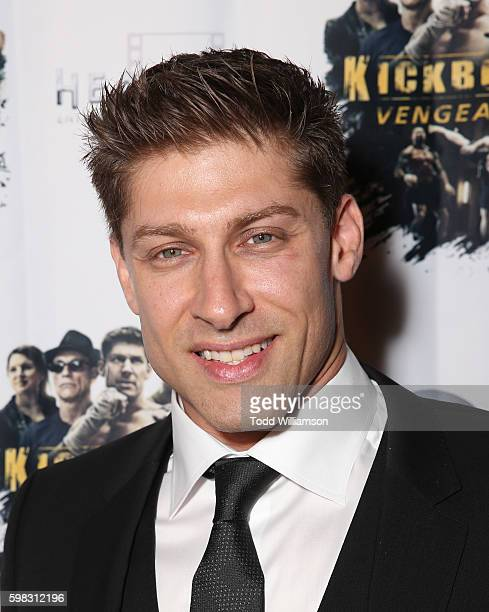 Alain Moussi attends the premiere Of RLJ Entertainment's 'Kickboxer Vengeance' at iPic Theaters on August 31 2016 in Los Angeles California