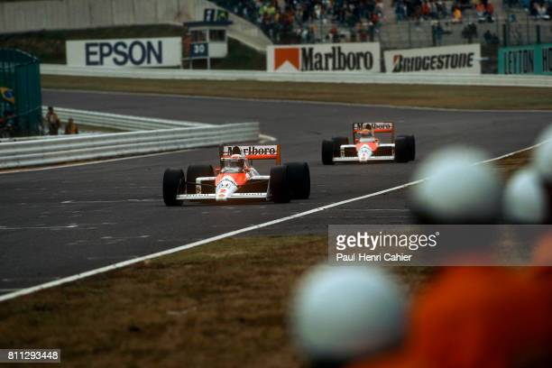 Alain Prost Ayrton Senna Grand Prix of Japan Suzuka 22 October 1988