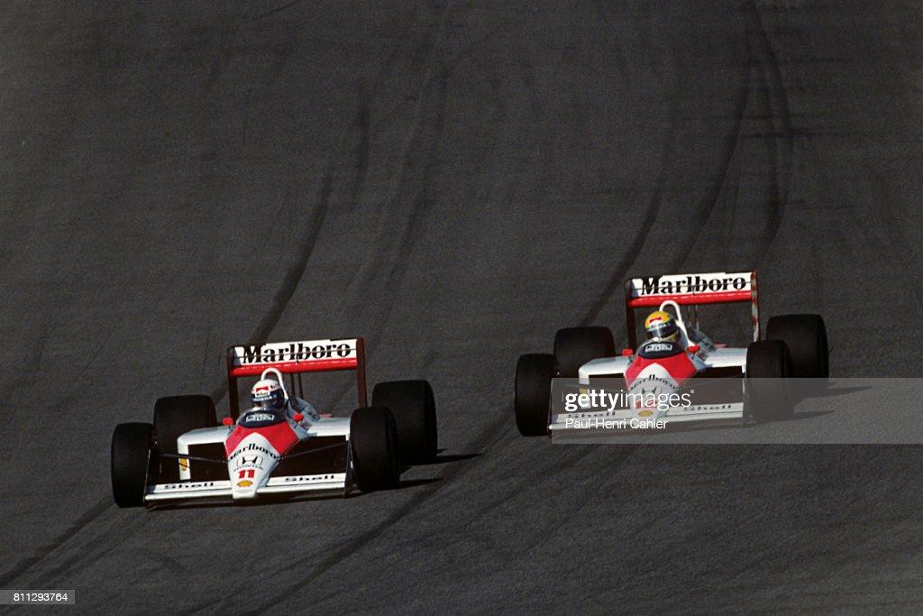 Alain Prost, Ayrton Senna, Grand Prix Of Portugal : ニュース写真