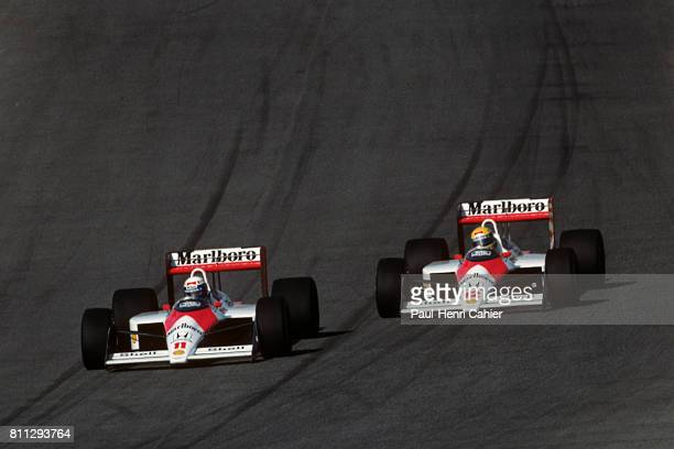 Alain Prost Ayrton Senna Grand Prix of Portugal Estoril 25 September 1988