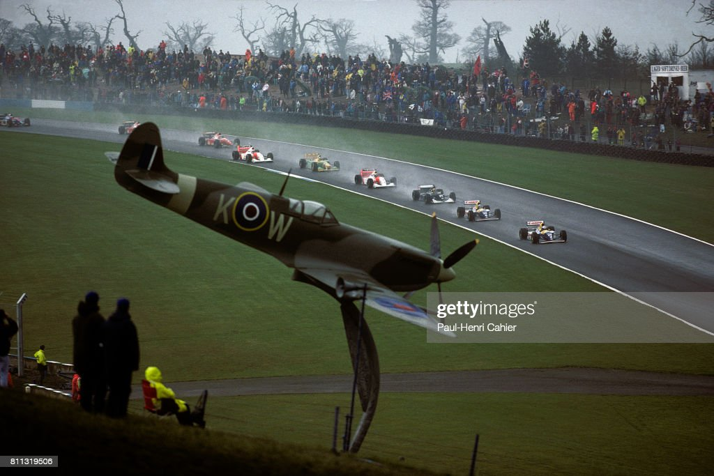 Alain Prost, Damon Hill, Karl Wendlinger, Ayrton Senna, Grand Prix Of Europe : News Photo
