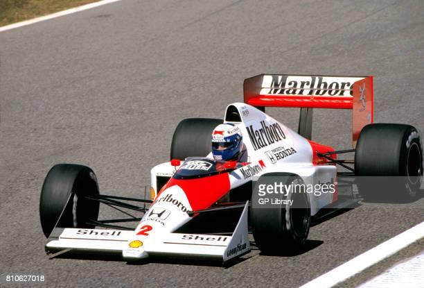 Alain Prost driving a McLaren MP4/5 at Estoril Portuguese GP 2nd
