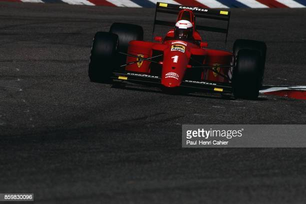 Alain Prost Ferrari 641 Grand Prix of Germany Hockenheimring July 29 1990