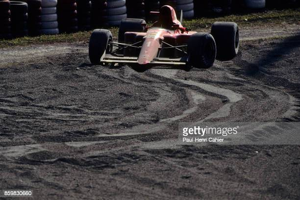 Alain Prost Ferrari 641 Grand Prix of Japan Suzuka Circuit October 21 1990 Following the first corner incident in the 1990 Japanese Grand Prix in...