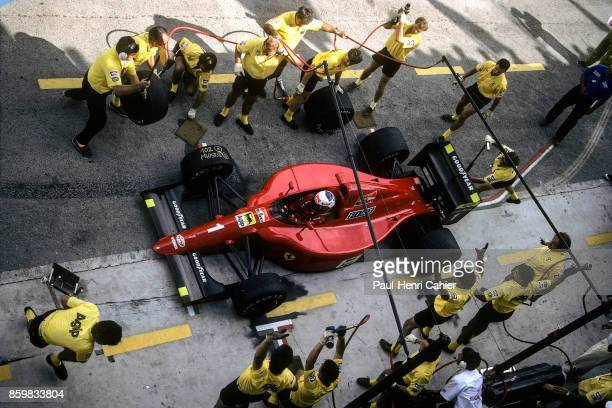 Alain Prost Ferrari 641 Grand Prix of Spain Circuito de Jerez September 30 1990