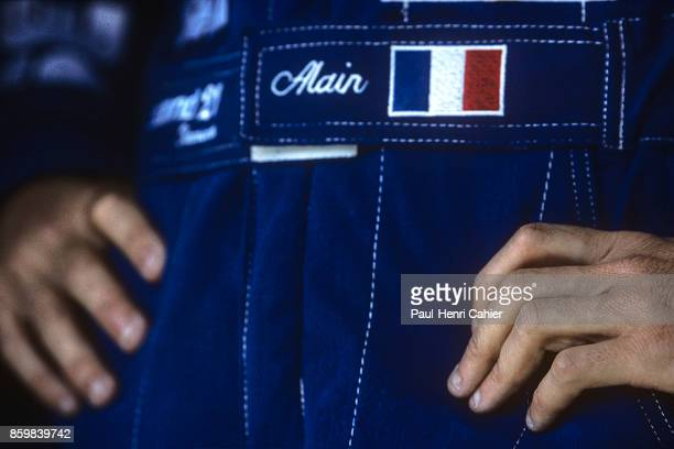 Alain Prost Grand Prix of Portugal Autodromo do Estoril September 26 1993 The hands of Alain Prost