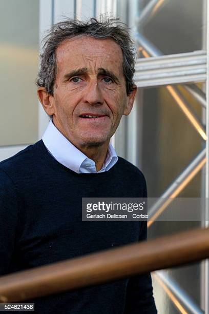 Alain Prost in the paddock during the 2015 Formula 1 Shell Belgian Grand Prix at Circuit de Spa-Francorchamps in Belgium, August 23, 2015.