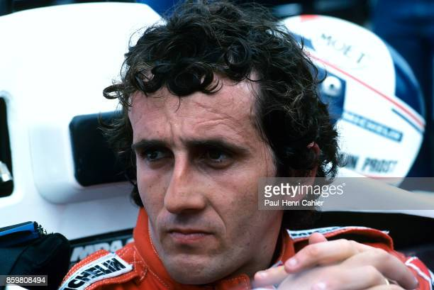 Alain Prost McLarenTAG MP4/2 Grand Prix of Detroit Detroit street circuit June 24 1984