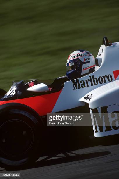 Alain Prost McLarenTAG MP4/2 Grand Prix of Great Britain Brands Hatch July 22 1984