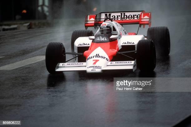 Alain Prost, McLaren-TAG MP4/2, Grand Prix of Monaco, Circuit de Monaco, June 3, 1984.