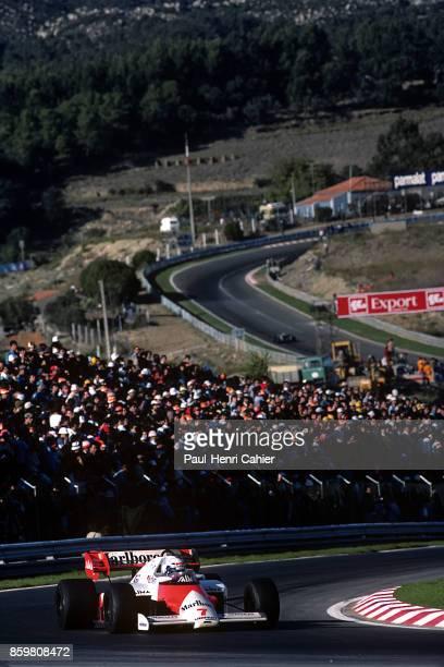 Alain Prost McLarenTAG MP4/2 Grand Prix of Portugal Autodromo do Estoril October 21 1984