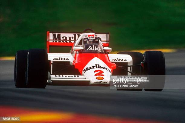Alain Prost McLarenTAG MP4/2B Grand Prix of Europe Brands Hatch October 6 1985