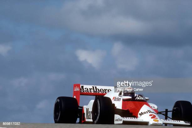 Alain Prost McLarenTAG MP4/2B Grand Prix of the Netherlands Circuit Park Zandvoort August 25 1985