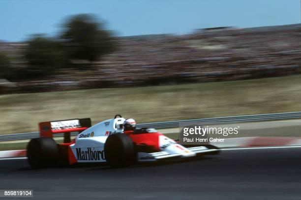 Alain Prost, McLaren-TAG MP4/2C, Grand Prix of Hungary, Hungaroring, August 10, 1986.