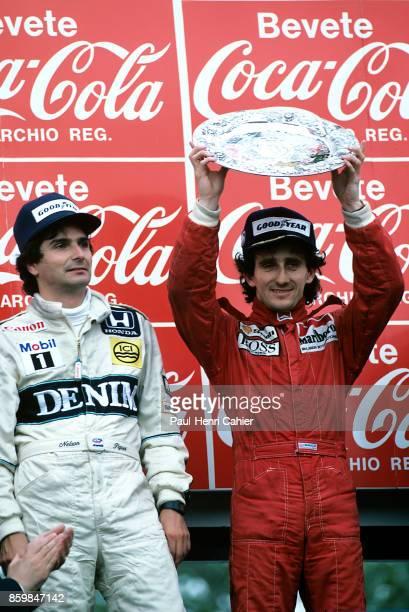 Alain Prost, Nelson Piquet, Grand Prix of San Marino, Autodromo Enzo e Dino Ferrari, April 27, 1986.