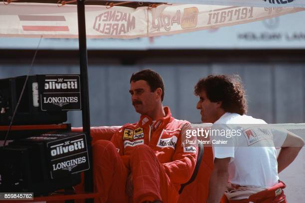 Alain Prost Nigel Mansell Ferrari 641 Grand Prix of Portugal Autodromo do Estoril September 23 1990